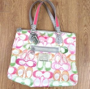 Coach Poppy large Spring Tote Bag